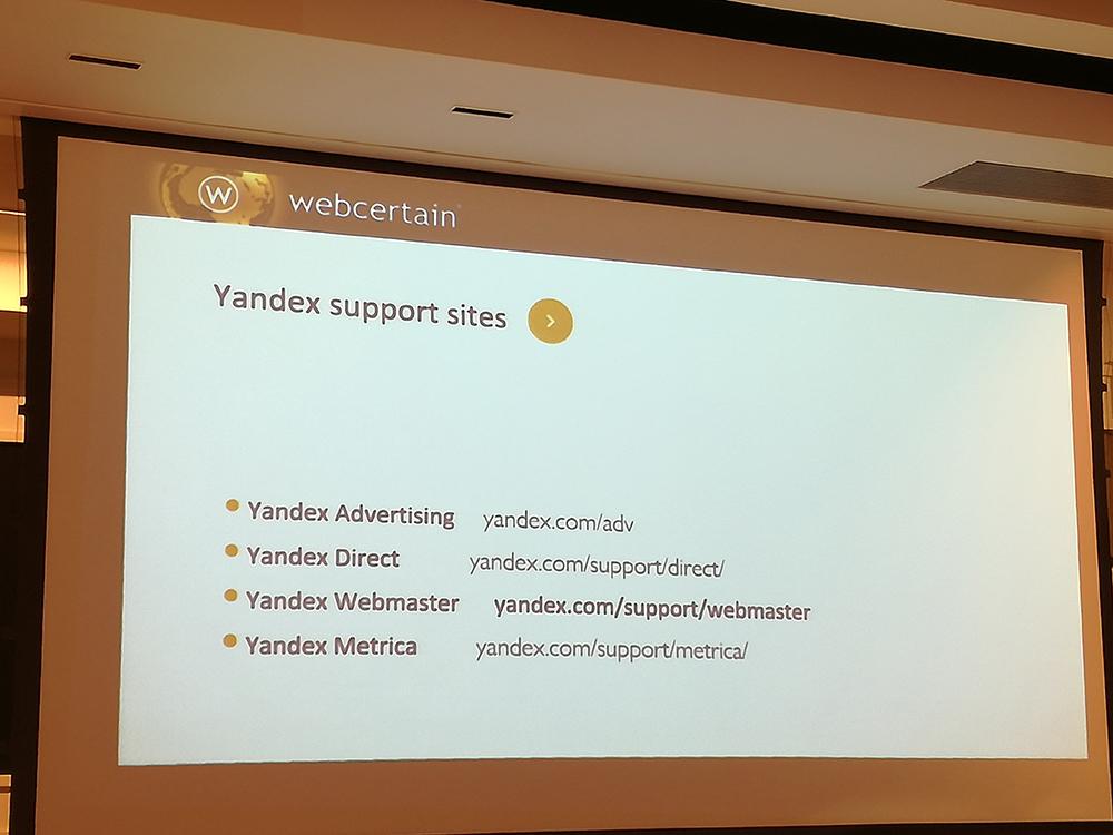 Yandex Support Sites