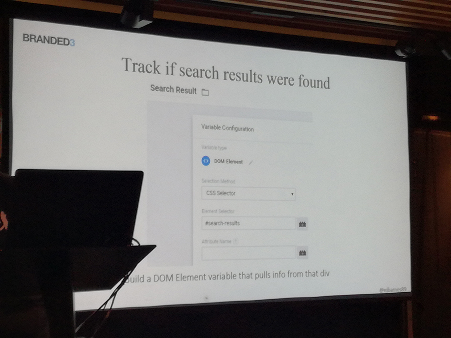 Track search results