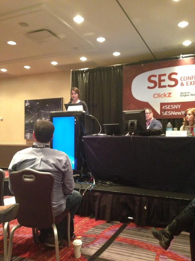 Jo Turnbull speaking at SES NY