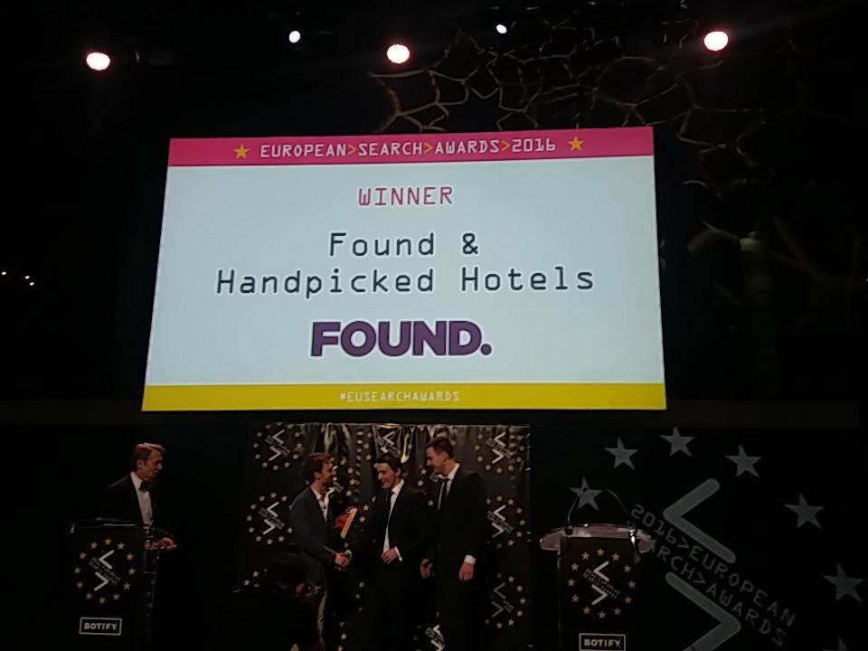 Found EU Search Awards Winner