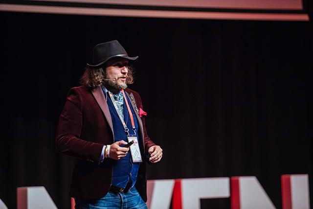 Lukasz speaking